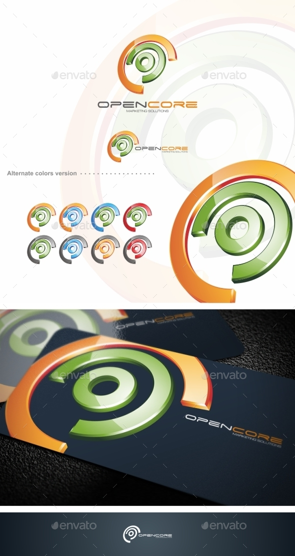GraphicRiver Open Core Logo Template 9719577