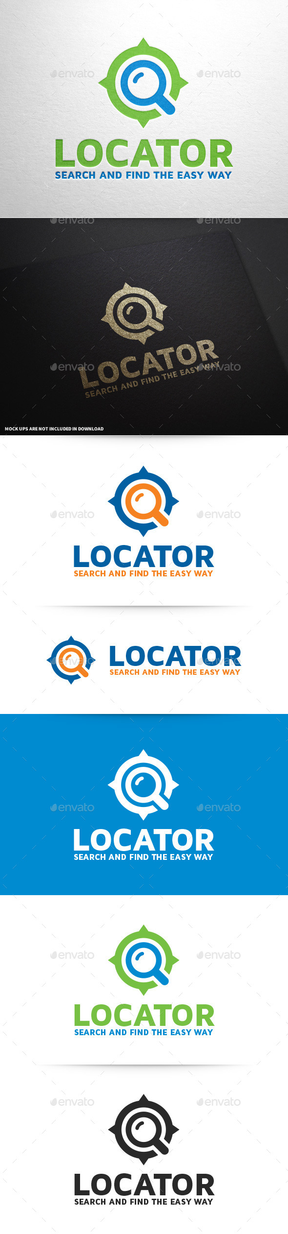 GraphicRiver Locator Logo Template 9719650