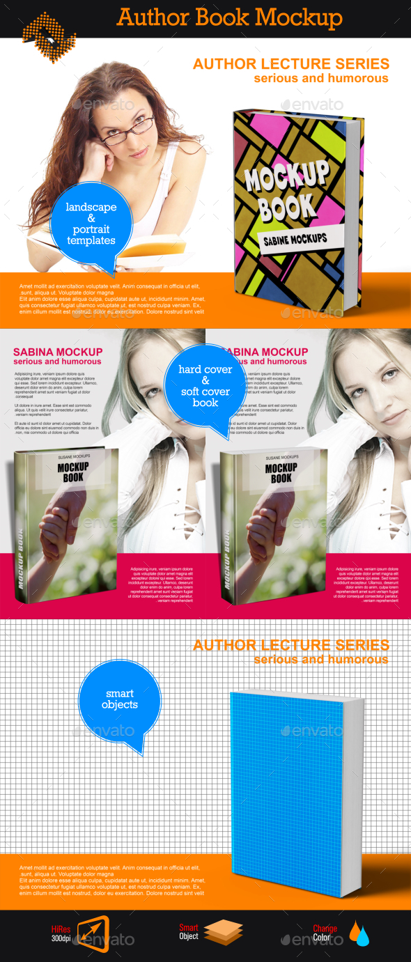 GraphicRiver Book Writers Mockup 9719675