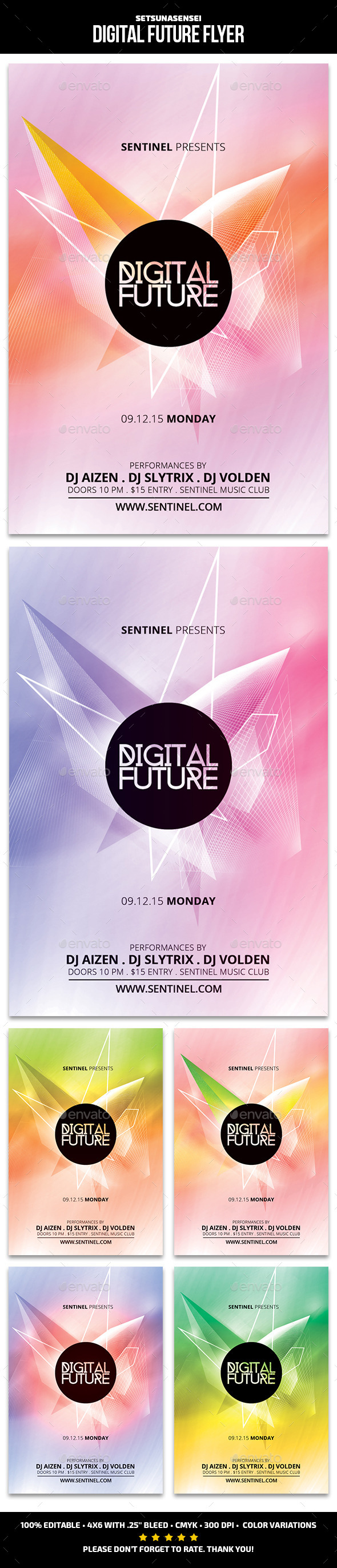 GraphicRiver Digital Future Flyer 9719726