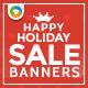 Holiday Sale Banner Set - GraphicRiver Item for Sale