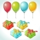 Set of Colorful Balloons and Gifts - GraphicRiver Item for Sale