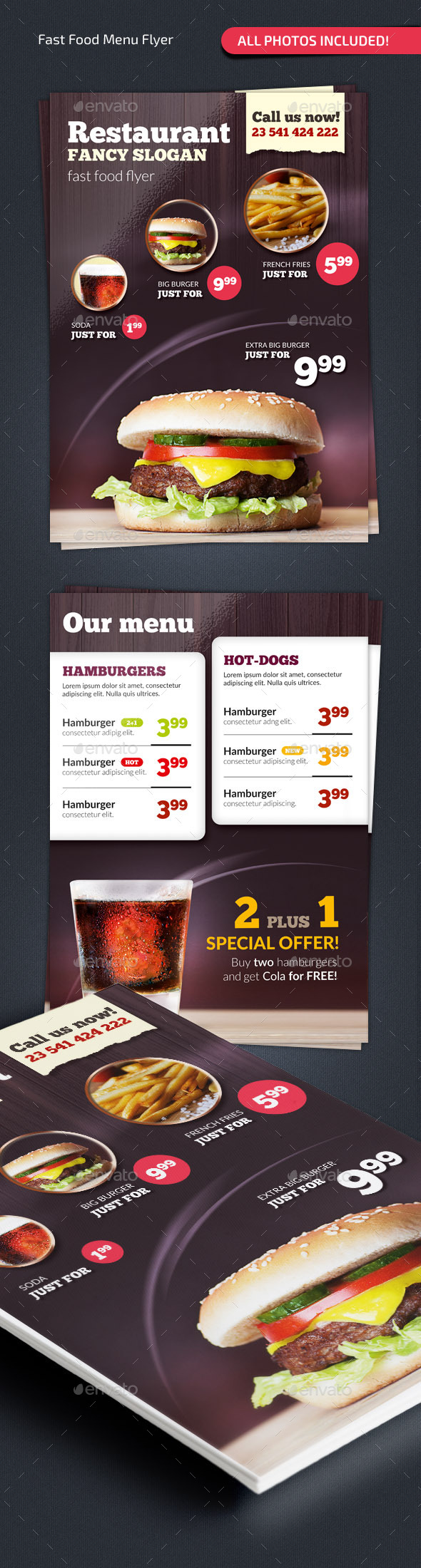 GraphicRiver Fast Food Menu Flyer #2 9719752