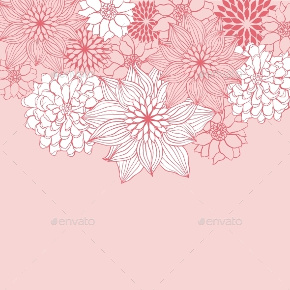 GraphicRiver Abstract Floral Background 9719767