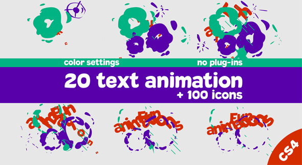 Animated text and icon