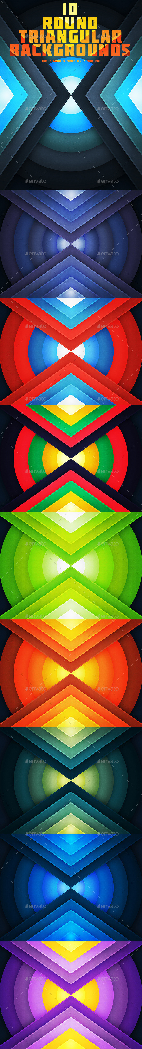 10 Round Triangular Backgrounds