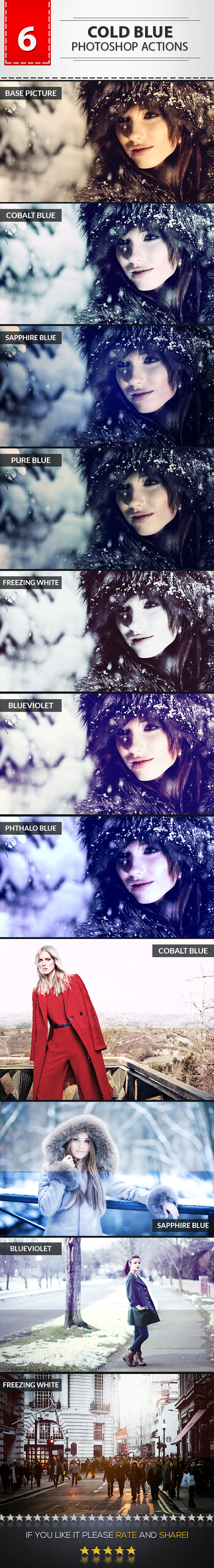 6 Cold Blue Photoshop Actions