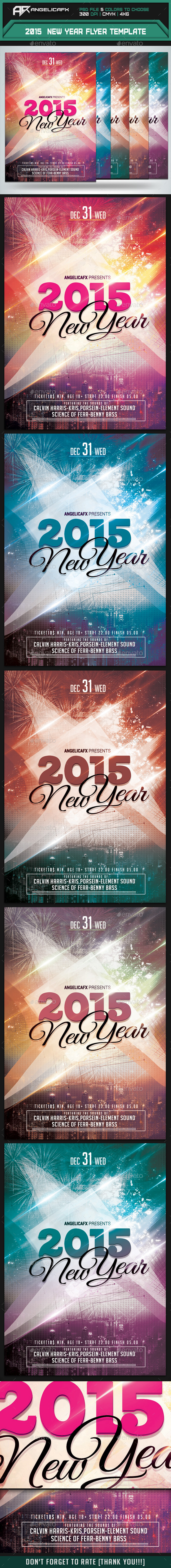 GraphicRiver 2015 New Year Flyer Template 9719989