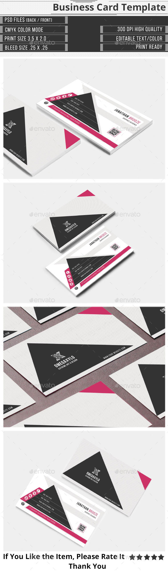 GraphicRiver Clean Corporate Business Card 9720004