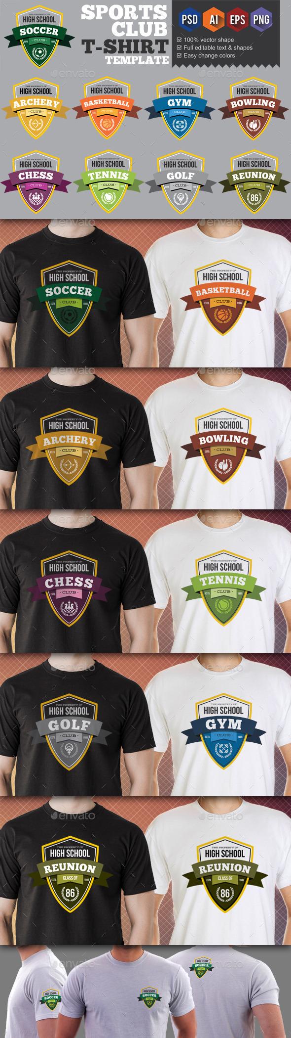 GraphicRiver 9 Sport Club T-Shirt Templates v3 9697812