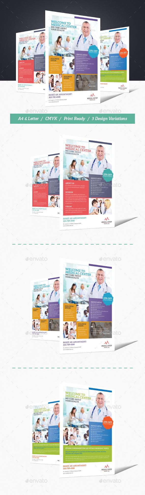 GraphicRiver Medical Center Flyer 9720032