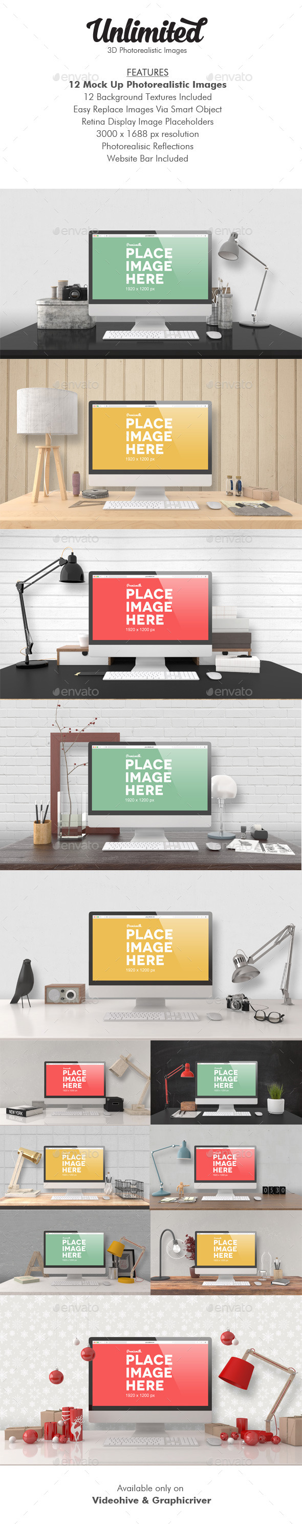 GraphicRiver Unlimited Mock Up Images 9720061