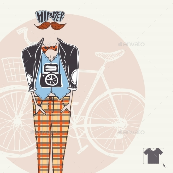 GraphicRiver Hipster Background in Retro Style 9720071
