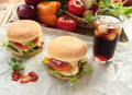 Hamburgers with cola drink - PhotoDune Item for Sale