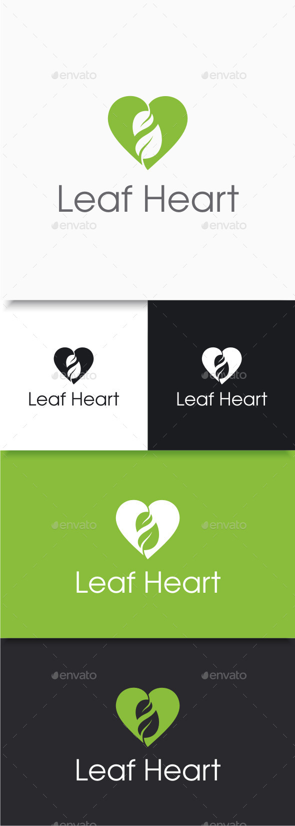 GraphicRiver Leaf Heart Logo 9720114