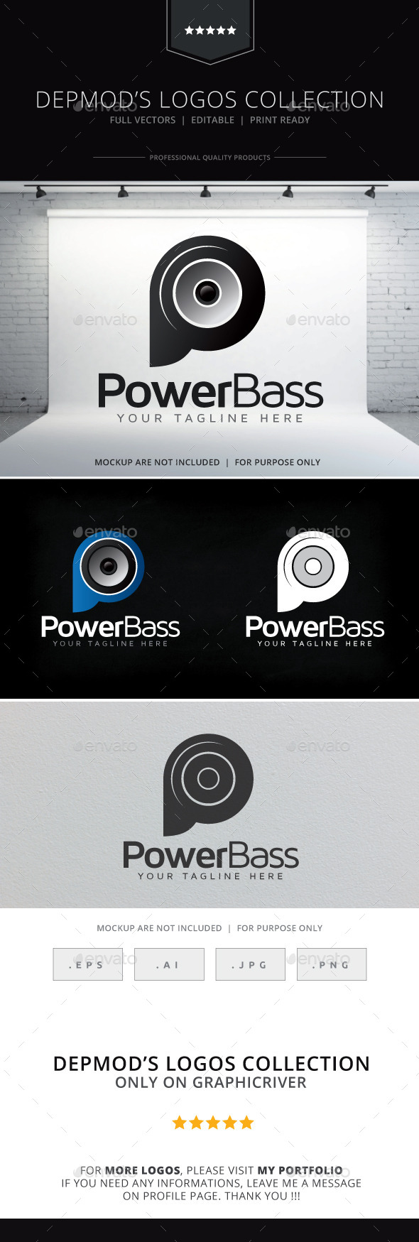 GraphicRiver Power Bass Logo 9720120