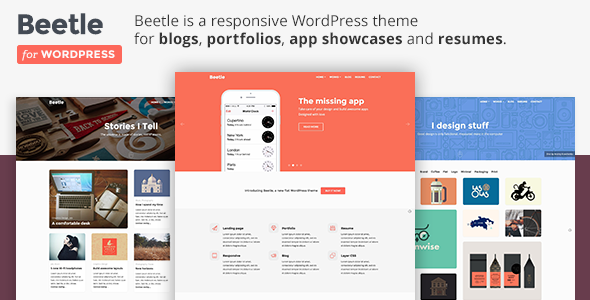 ThemeForest Beetle Flat Responsive WordPress Theme 9694178