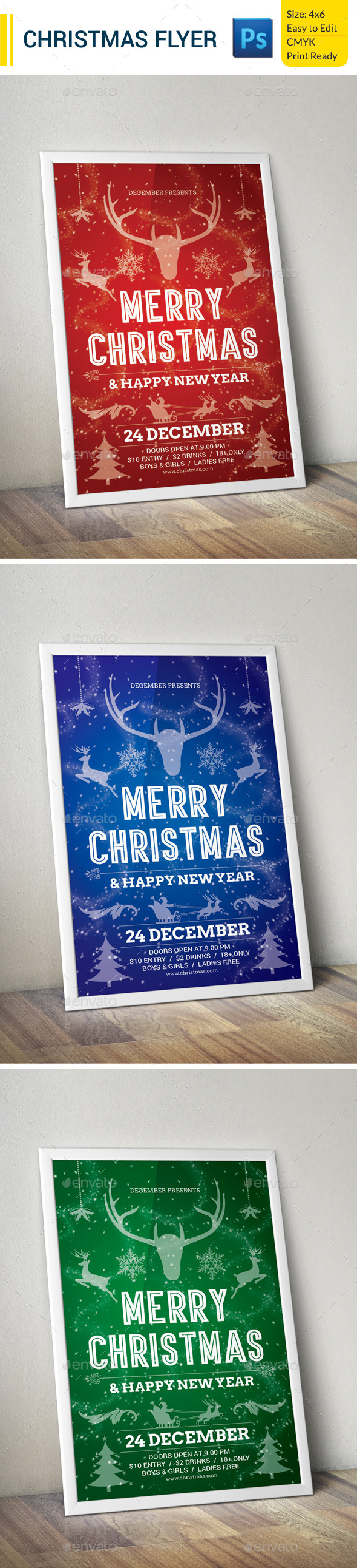 GraphicRiver Christmas Flyer 9720147