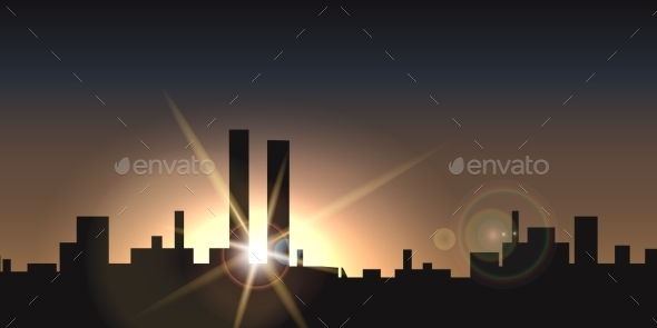 GraphicRiver City Sunset 9720181