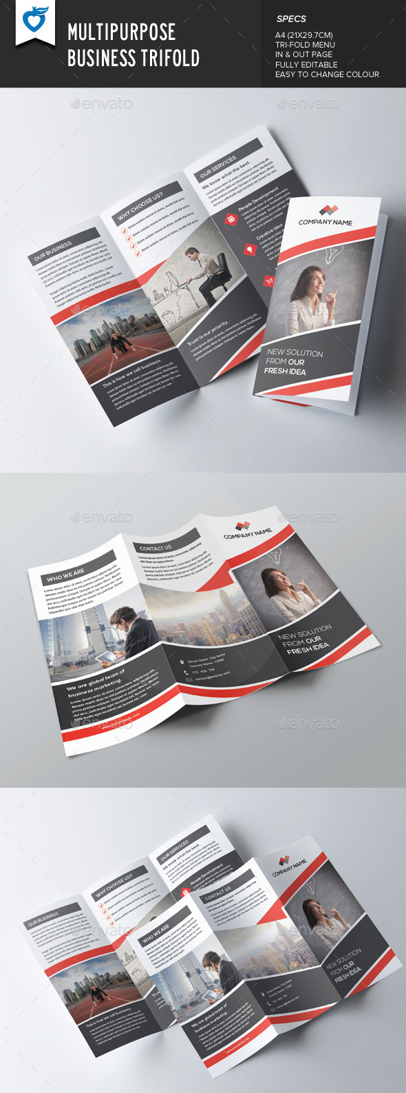 GraphicRiver Multipurpose Business Trifold Brochure 9720286