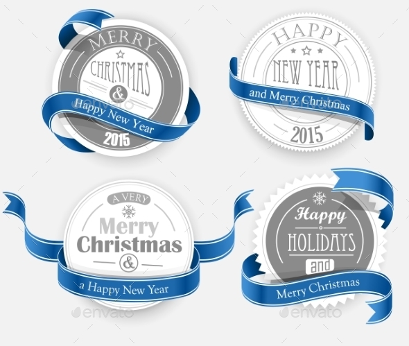 GraphicRiver Christmas Emblems 9720670