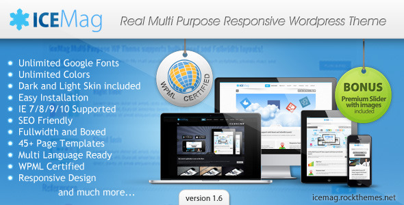 iceMag Multi Purpose Responsive Theme