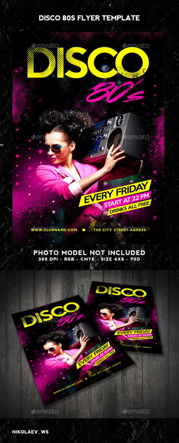 GraphicRiver Disco 80s Flyer 9682822