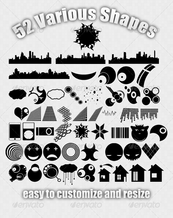 52 Various Shapes - Objects Shapes
