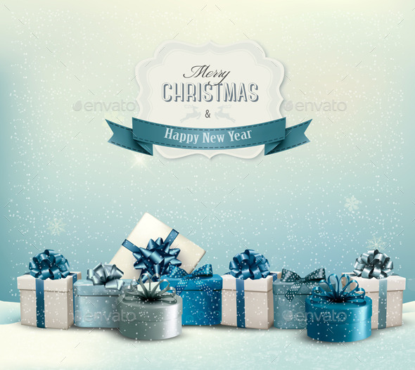 GraphicRiver Holiday Christmas Background 9706850