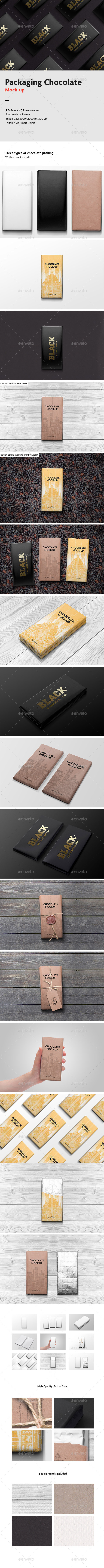 GraphicRiver Packaging Chocolate Mock-Up 9693093
