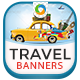 Travel & Tourism Web Banners - GraphicRiver Item for Sale