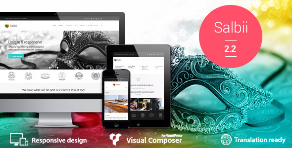 Salbii - Responsive Multi-Purpose WordPress Theme - Marketing Corporate