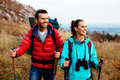 Two backpackers hiking - PhotoDune Item for Sale