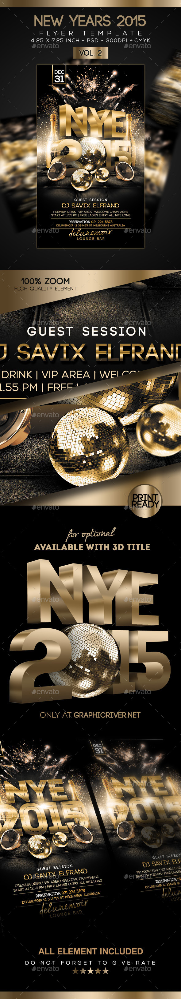 GraphicRiver New Years Flyer Vol 2 9720991