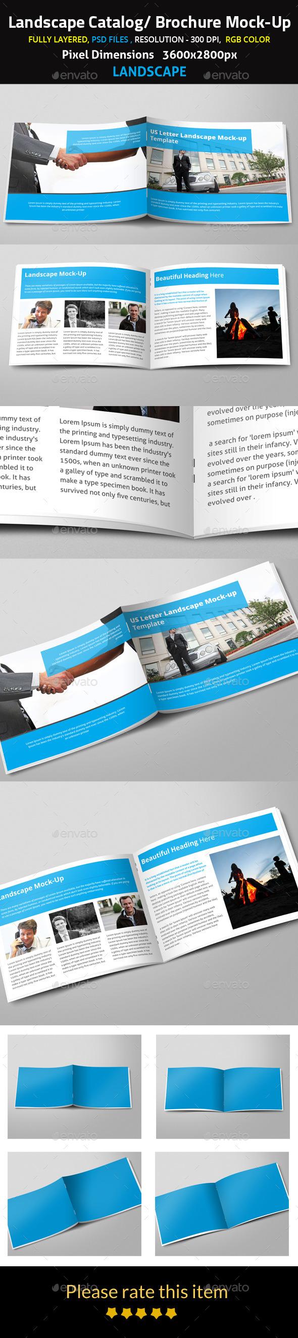 Landscape Catalog Brochure Mock-Up