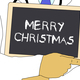 Illustration: Doctor shows information: Merry Christmas - PhotoDune Item for Sale