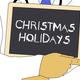 Illustration: Doctor shows information: Christmas holidays - PhotoDune Item for Sale