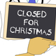 Illustration: Doctor shows information: Closed for Christmas - PhotoDune Item for Sale
