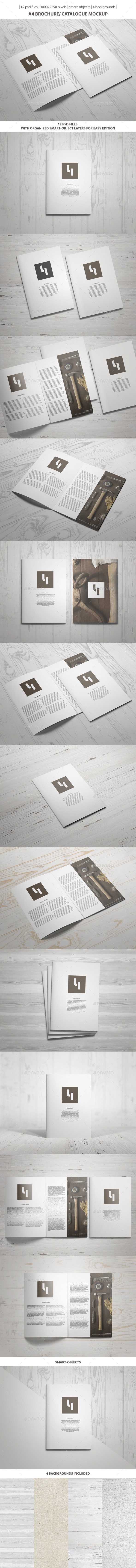 GraphicRiver A4 Brochure Catalogue Mockup 9721174