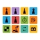 Chess Pieces Icons - GraphicRiver Item for Sale