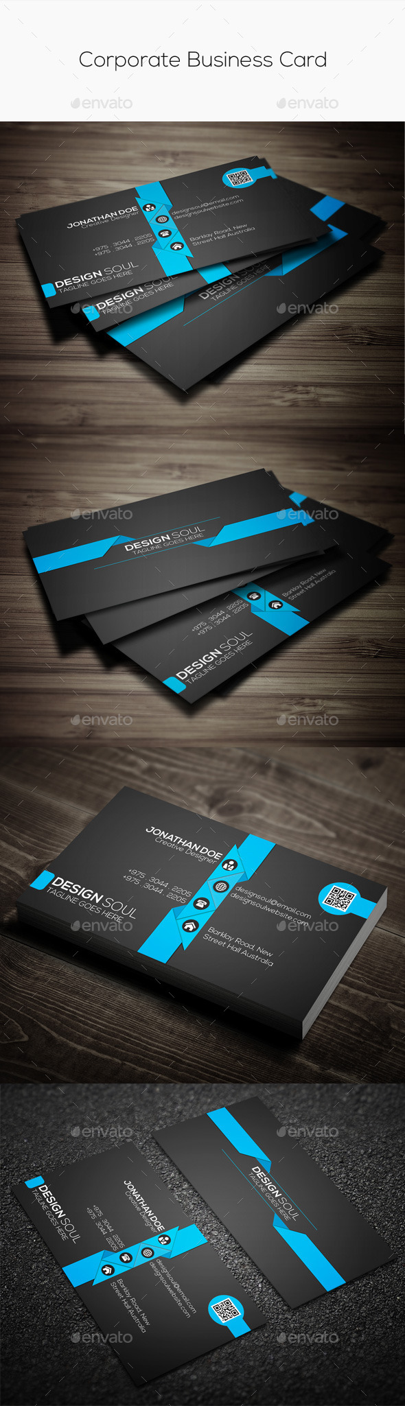 GraphicRiver Corporate Business Card 9721246