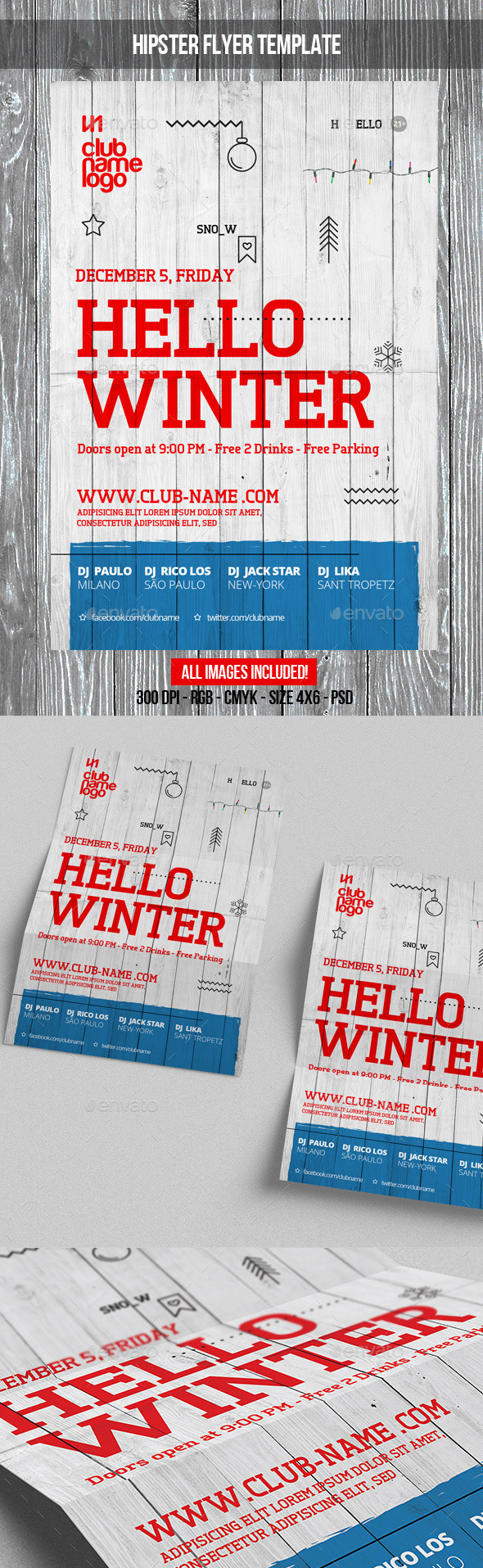 GraphicRiver Hello Winter Party Flyer Template 9430859
