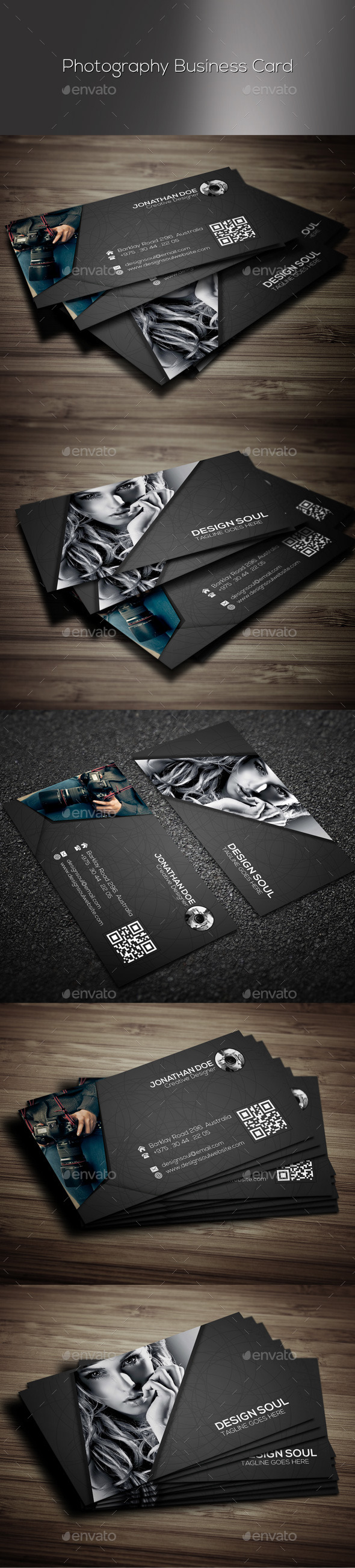 GraphicRiver Photography Business Card 9721544
