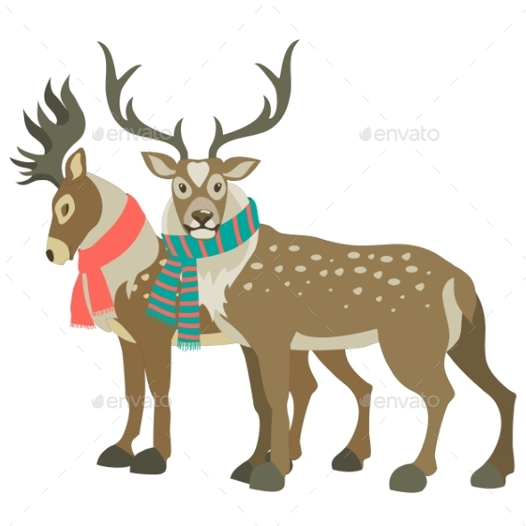GraphicRiver Two Reindeer 9721551