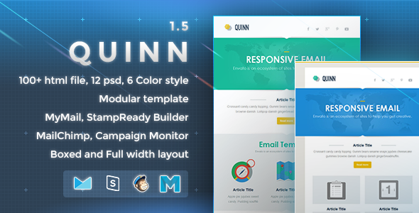 Quinn - Responsive Email Template - Newsletters Email Templates