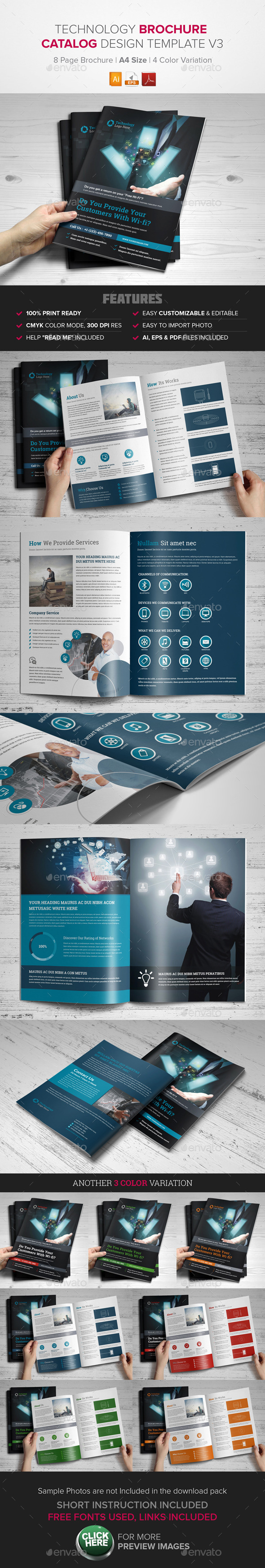 GraphicRiver Technology Brochure Catalog Template v3 9721805