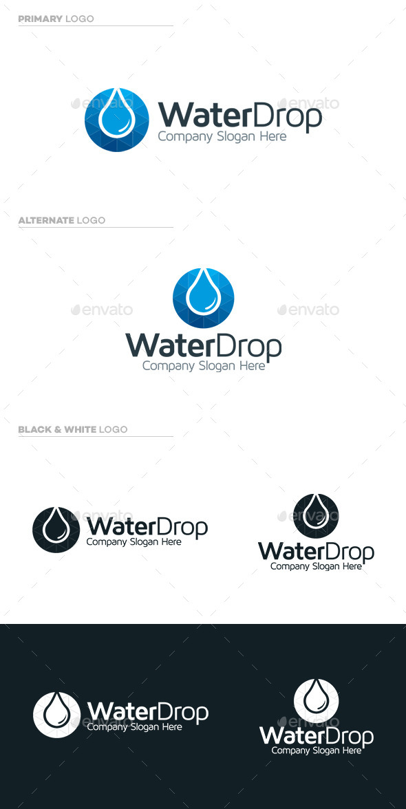 GraphicRiver Water Drop Logo 9721880