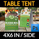 Restaurant and Cafe Table Tent Template Vol5 - GraphicRiver Item for Sale