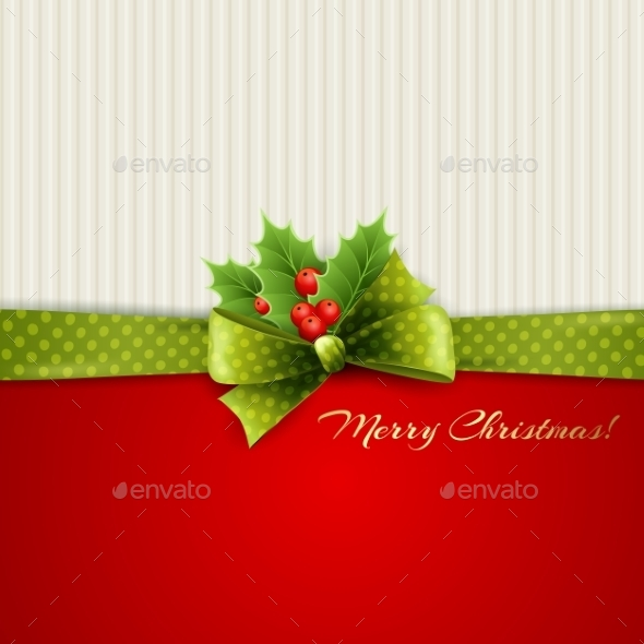 GraphicRiver Christmas Decoration with Holly Leaves 9721945