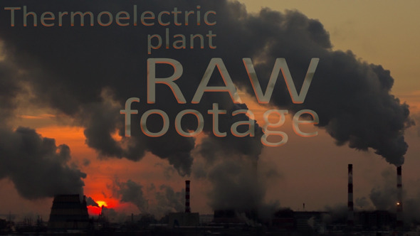 VideoHive Smoking Thermoelectric Power Plant 9721953